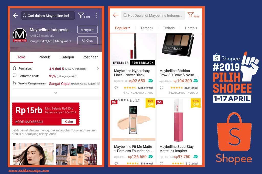Maybelline Indonesia rekomendasi online shop