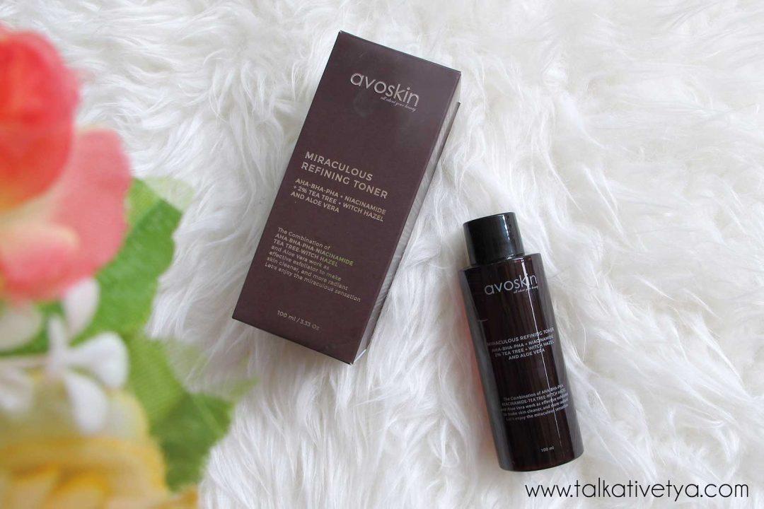 review avoskin miraculous refining toner 1 bulan