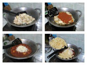 Cara masak penne ziti bolognese panggang