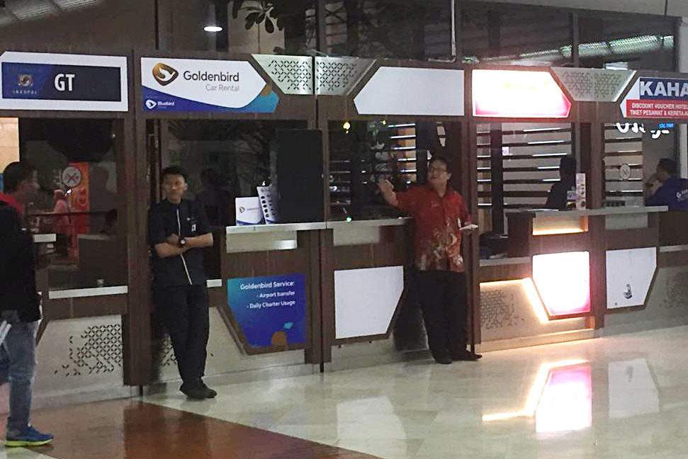 Konter Golden Bird di Bandara Soekarno-Hatta