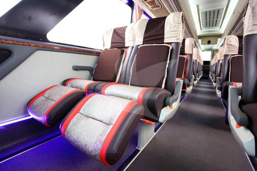 Kursi penumpang bus po agra mas yang nyaman