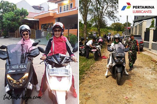 ibu mengendarai motor setiap hari